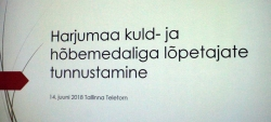 Harjumaa kuld- ja hõbemedalistid 2018