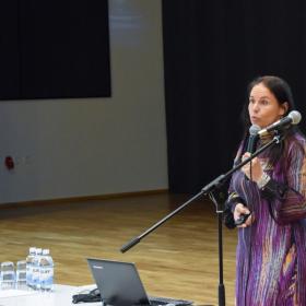 HOL haridusspetsialist Maria Mägar ja büroojuht Vambo Kaal